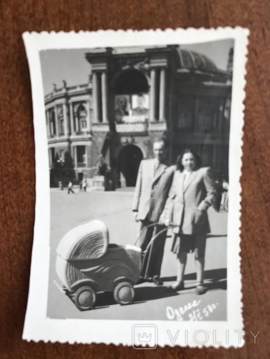 1953 Одесса Оперный театр Коляска Фото Сталин Ленин, фото №5