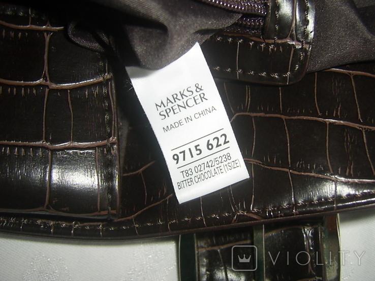 Сумка кожаная Marks Spencer, фото №8