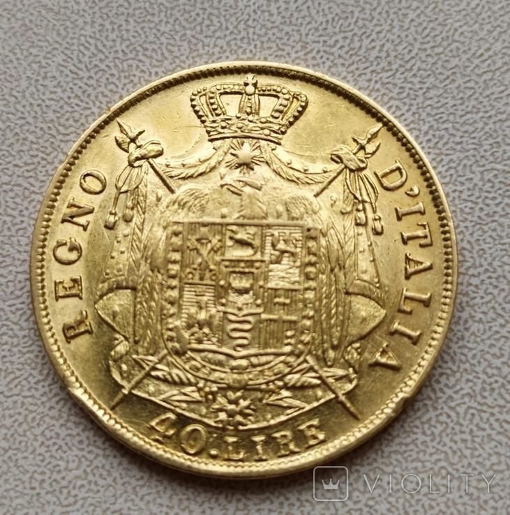 40 лир 1810 г.Италия.Наполеон., фото №4