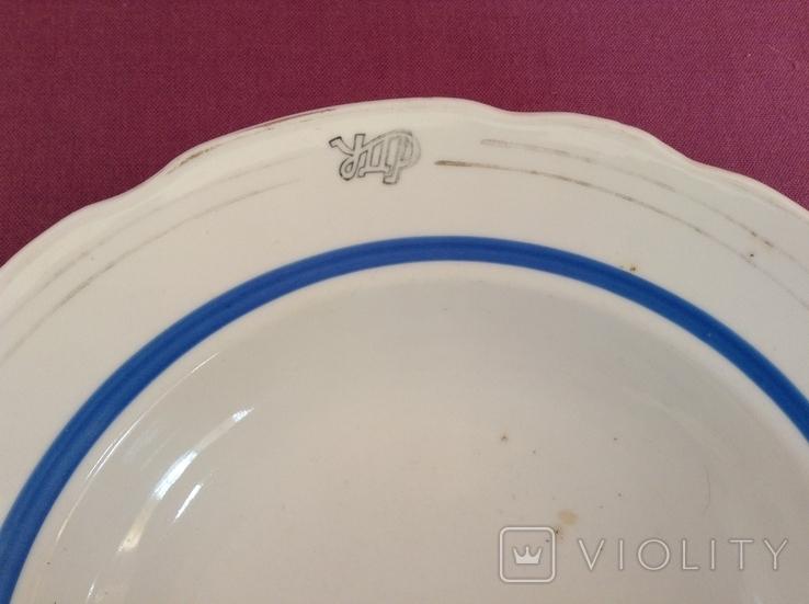 Тарелка суповая глубокая УДР. УкрДорРесторан. Фарфор, Коростень., фото №3