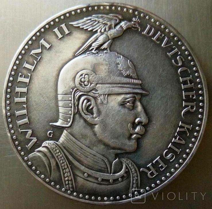 5 марок / 27,8 грам срібла 900 проби / 1913 року Прусія ///копія пробної/, фото №11