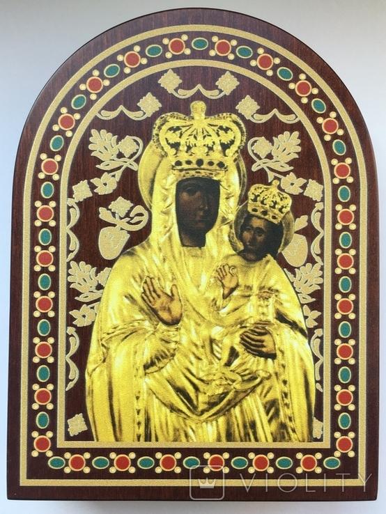 Ікона Зарваницької Матері Божої 1 долар 2014 рік Срібло 999' позолота, фото №7