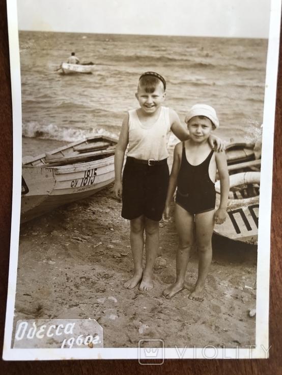 1960 Одесса Дети на берегу Лодка, фото №5
