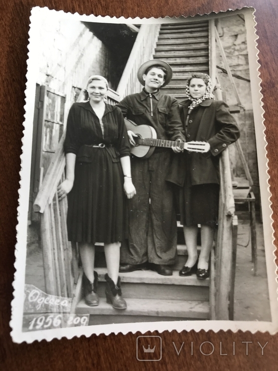 1956 Одесса С гитарой Мода Клёш Одесские дворики, фото №4
