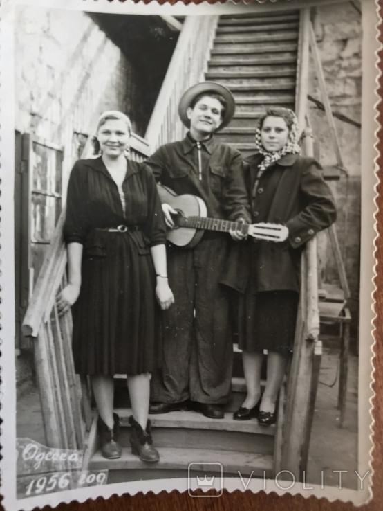 1956 Одесса С гитарой Мода Клёш Одесские дворики, фото №5