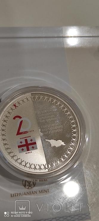 Юбилейная колекционная серебрянная монета, фото №3