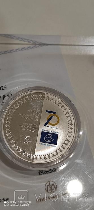 Юбилейная колекционная серебрянная монета, фото №4