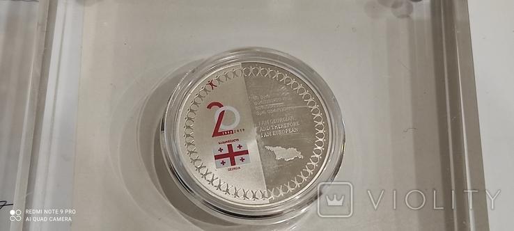 Юбилейная колекционная серебрянная монета, фото №6