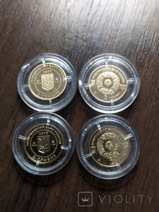 2 гривны.Золото (4 шт.)., фото №4