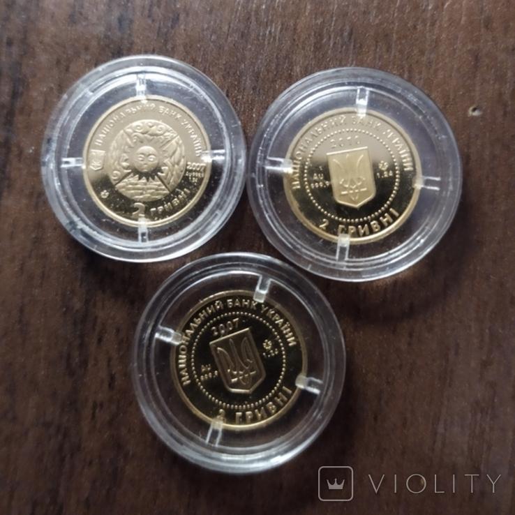 2 гривны.Золото.3 штуки., фото №3
