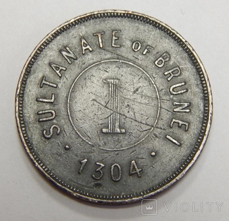 1 цент, 1304 ан султанат Бруней, фото №2