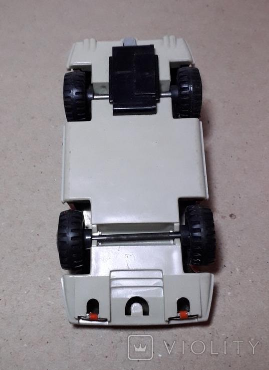Инерционная спортивная машинка JUNIOR СССР длина 11 см., фото №3
