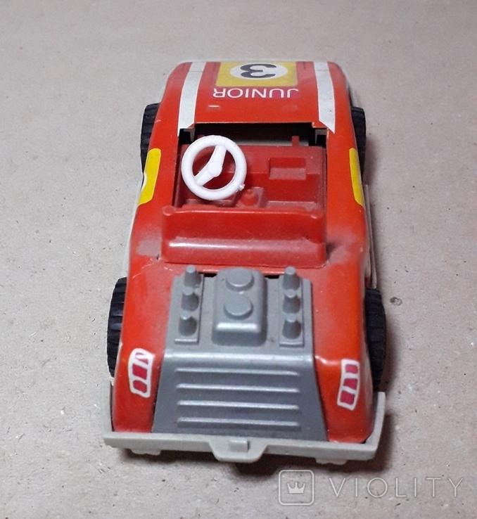 Инерционная спортивная машинка JUNIOR СССР длина 11 см., фото №4