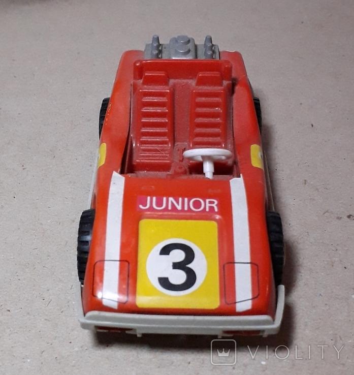 Инерционная спортивная машинка JUNIOR СССР длина 11 см., фото №6