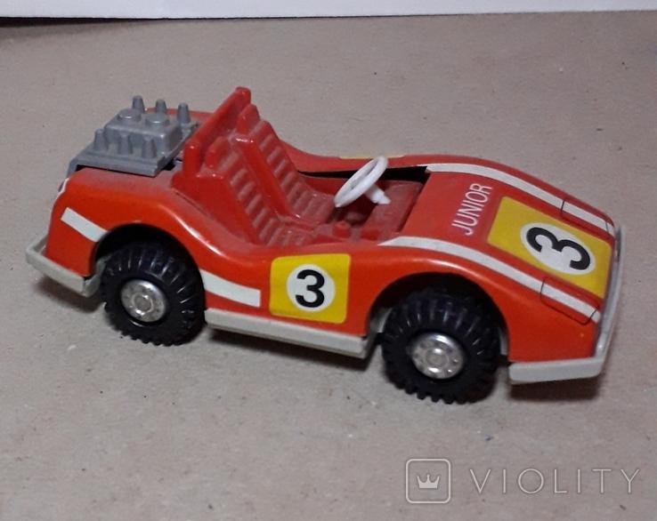 Инерционная спортивная машинка JUNIOR СССР длина 11 см., фото №7