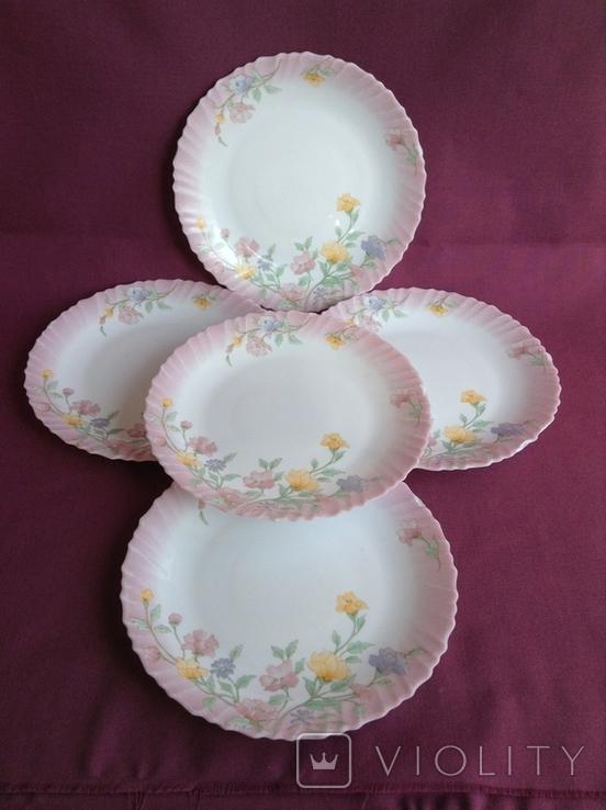 Тарелки плоские столовые Весенние цветы. Arcopal France., фото №2