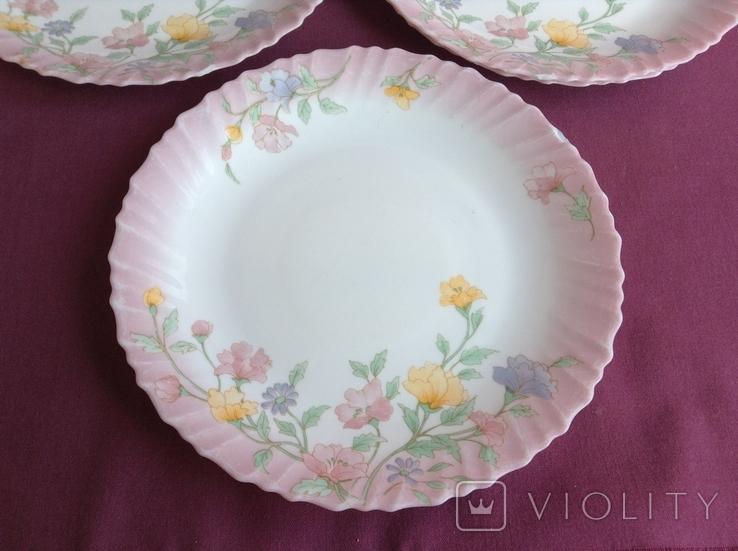 Тарелки плоские столовые Весенние цветы. Arcopal France., фото №5
