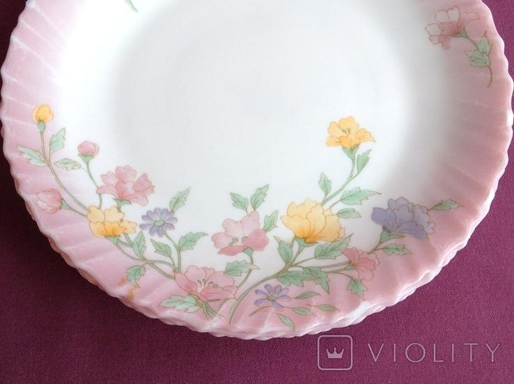 Тарелки плоские столовые Весенние цветы. Arcopal France., фото №11