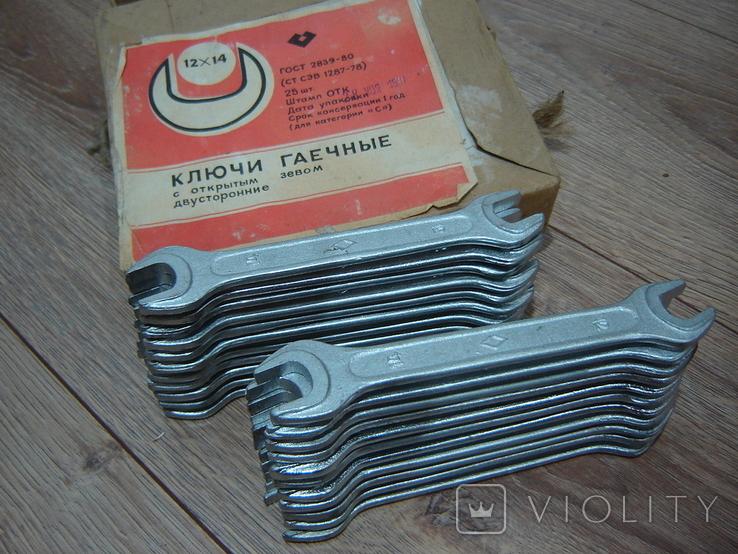 Ключи гаечные 12 х 14 в коробке 22 шт., фото №2