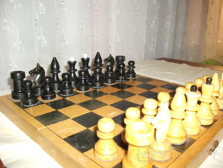 Шахматы ссср дерево, фото №5