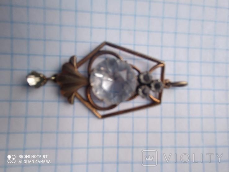 Подвеска, кулон серебро 875 проба, фото №4