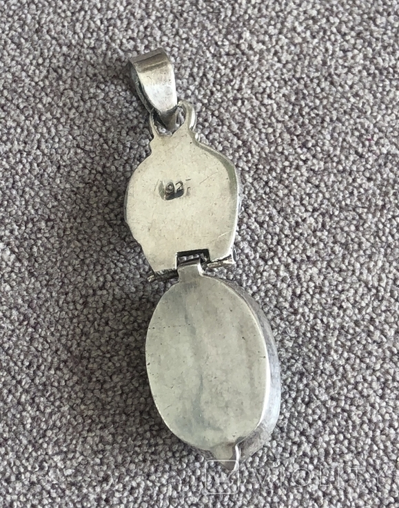 Серебряная подвеска с малахитом (серебро 925 пр, вес 9,3 гр), фото №5