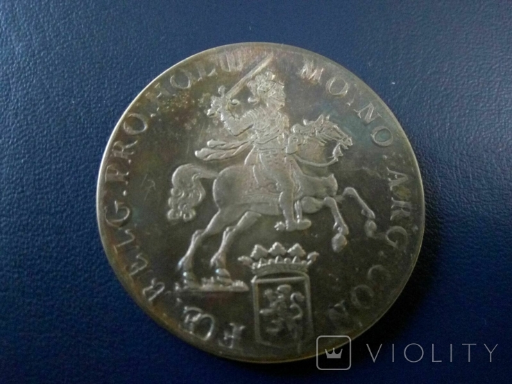 1 дукатон /срібний вершник/ 1760 р. 32,27 грам срібла900 Голандія -копія, фото №2