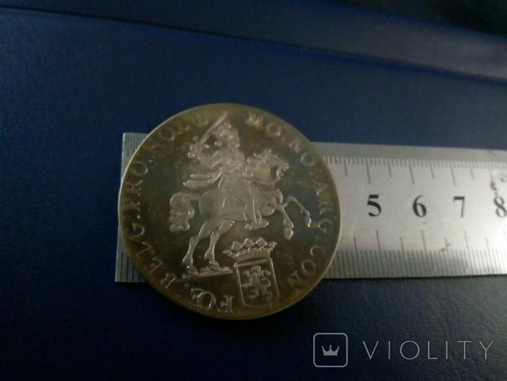 1 дукатон /срібний вершник/ 1760 р. 32,27 грам срібла900 Голандія -копія, фото №3