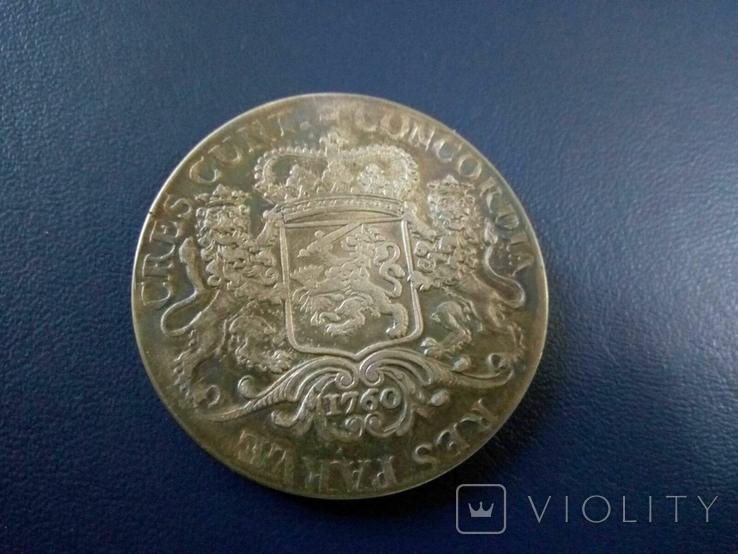 1 дукатон /срібний вершник/ 1760 р. 32,27 грам срібла900 Голандія -копія, фото №4