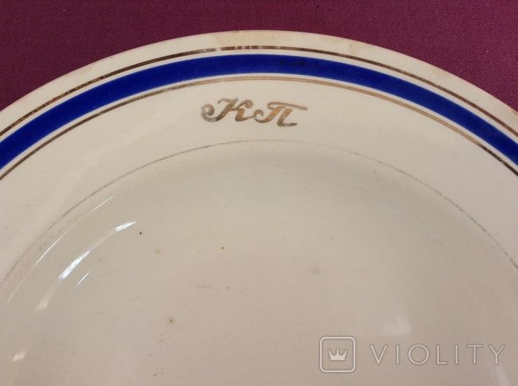Тарелка суповая глубокая КТ. Коммунальный транспорт. Фаянс, Буды., фото №3