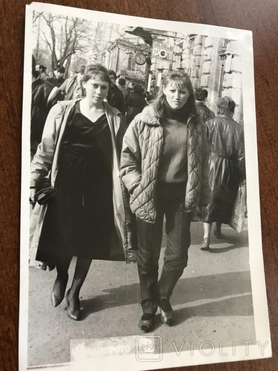 1986 Одесса Девушки на Греческой, фото №3
