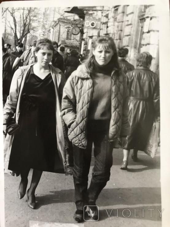 1986 Одесса Девушки на Греческой, фото №4