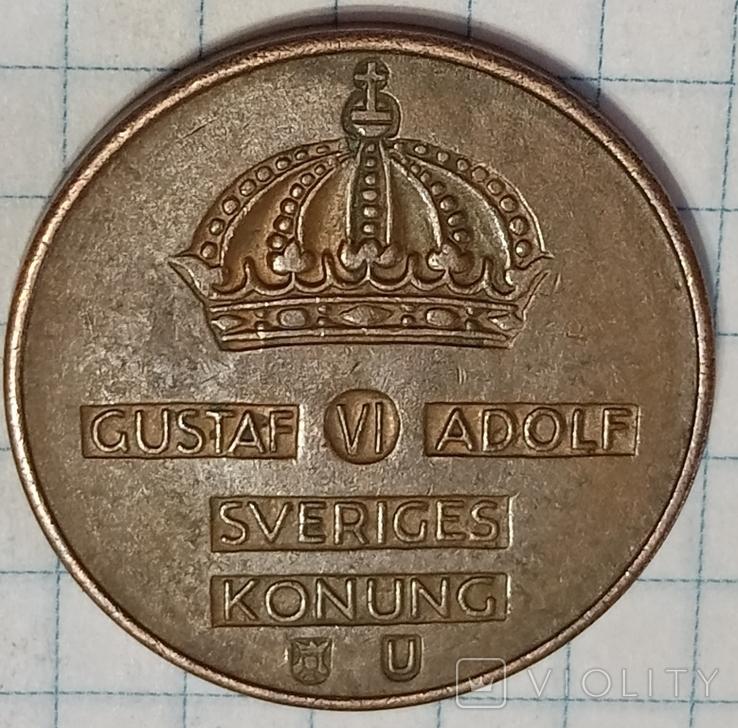 Швеция 5 оре 1963, фото №3