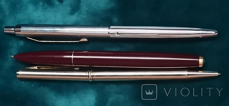 Лот Чернильных ручек и шариковых 8 штук, фото №9