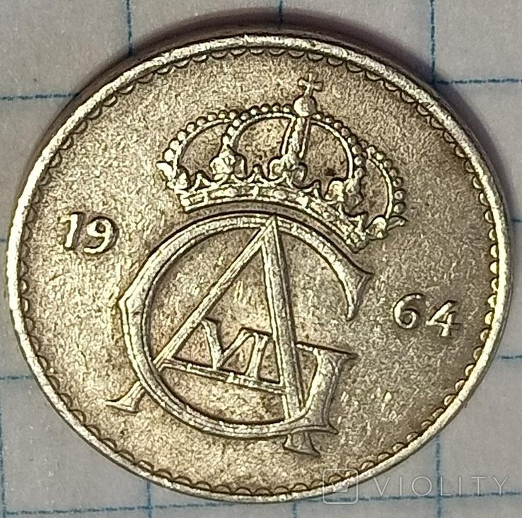 Швеция 25 оре 1964, фото №2