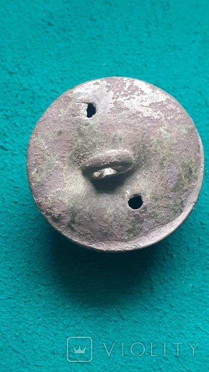 Пуговица дутая с позолотой., фото №5