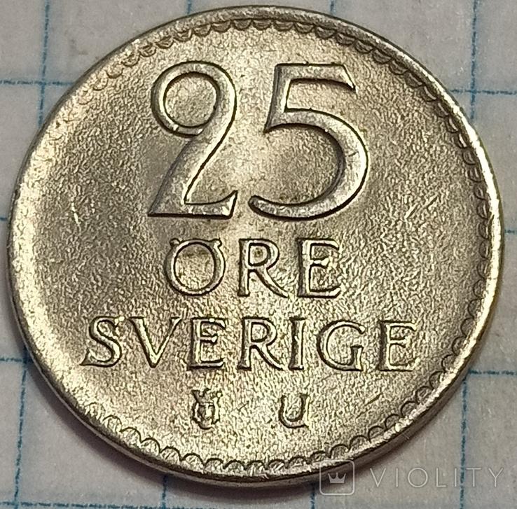 Швеция 25 оре 1969, фото №3