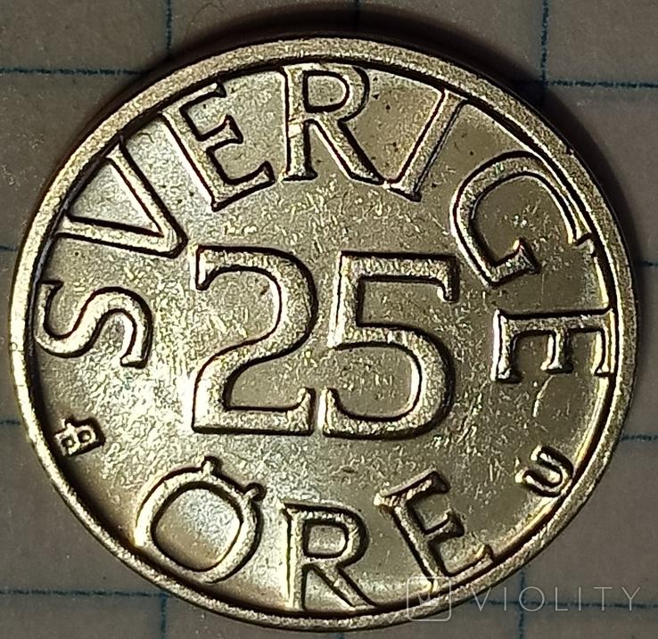 Швеция 25 оре 1982, фото №2