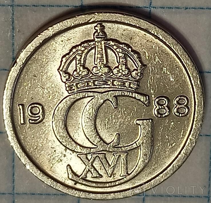 Швеция 10 оре 1988, фото №2