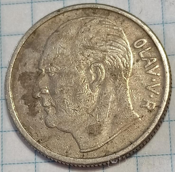 Норвегия 1 крона 1967, фото №2