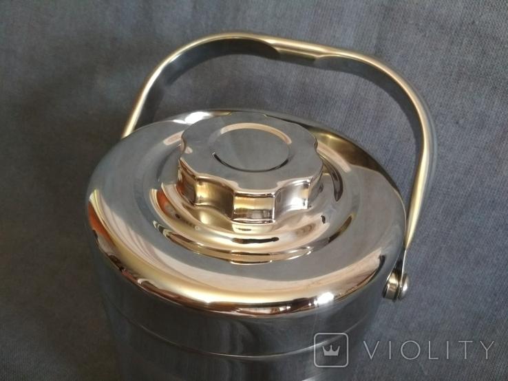 Термос пищевой с лотками 1.1 литра Нерж Нержавейка Нержавеющая сталь, фото №4