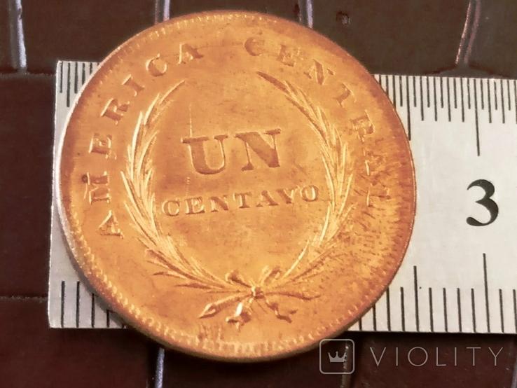 1 центаво 1892 року Сальвадор /копія- мідь, фото №3