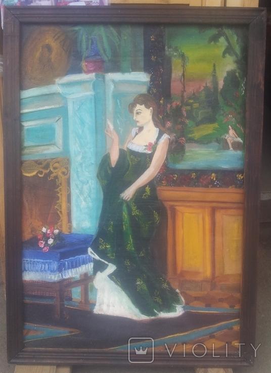 Старинная картина. китч. 50-60гг, фото №2