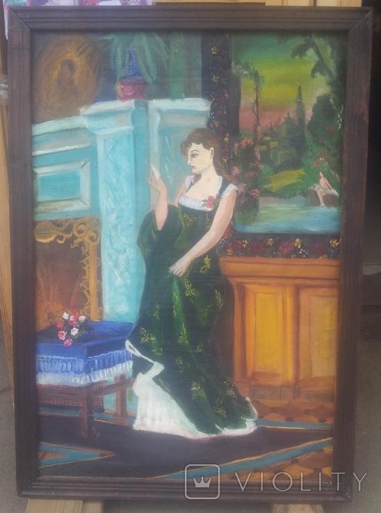 Старинная картина. китч. 50-60гг, фото №3