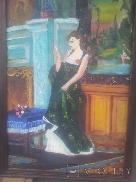 Старинная картина. китч. 50-60гг, фото №5