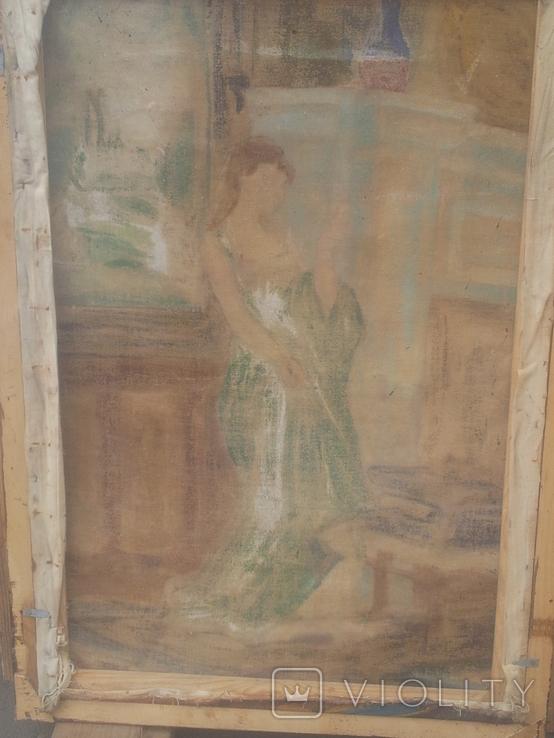 Старинная картина. китч. 50-60гг, фото №8