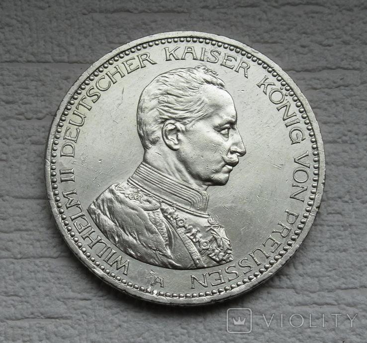 5 марок 1914 г. Пруссия, серебро, фото №7