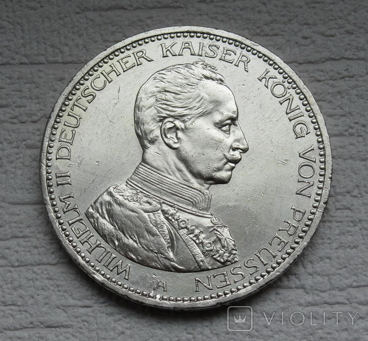 5 марок 1914 г. Пруссия, серебро, фото №8