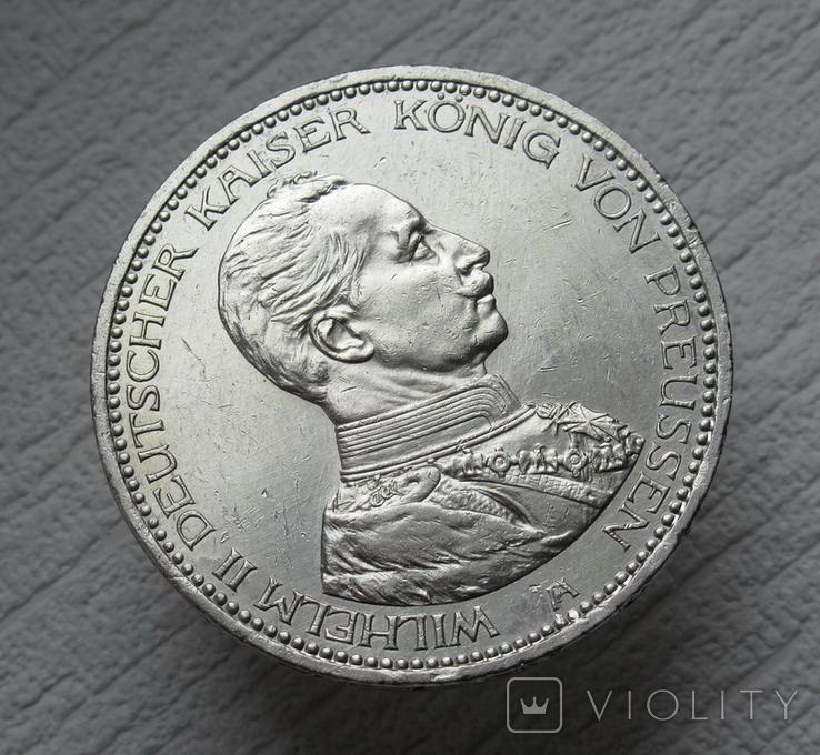 5 марок 1914 г. Пруссия, серебро, фото №9