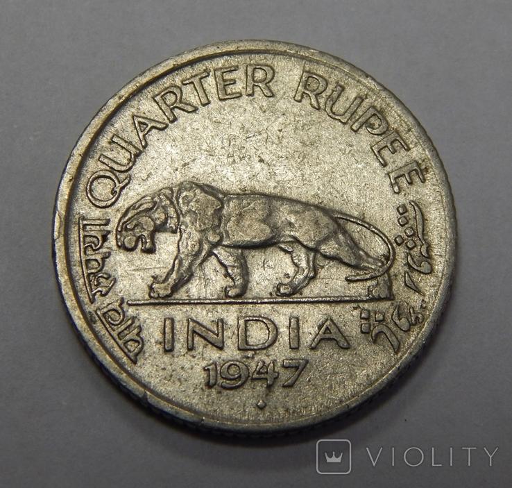 1/4 рупии, 1947 г Индия, фото №2